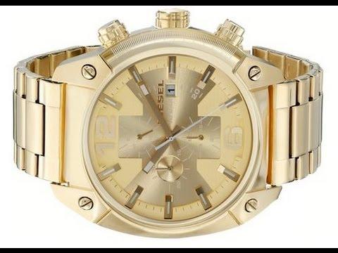 00b4e0887315 Diesel Men s DZ4299 Overflow Gold Tone Stainless Steel Watch - YouTube