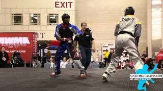 Avery Plowden vs Unk - Men's Sparring - Amerikick Internationals 2015