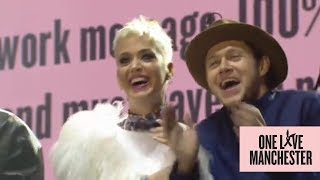 Niall Horan kisses Katy Perry and dances to Coldplay at #OneLoveManchester