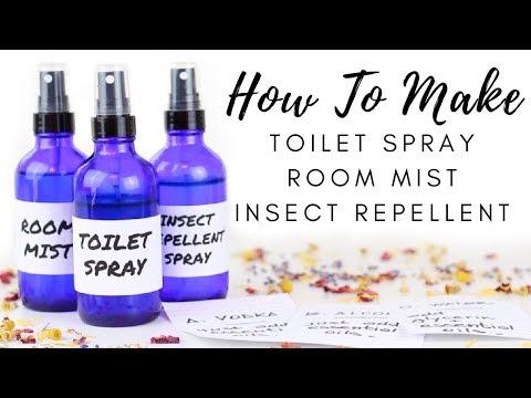 DIY Sprays - Room Mist, Toilet Spray, & Insect Repellent