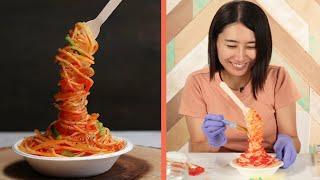 Professional Chef Make A DIY Fake Noodles Sample