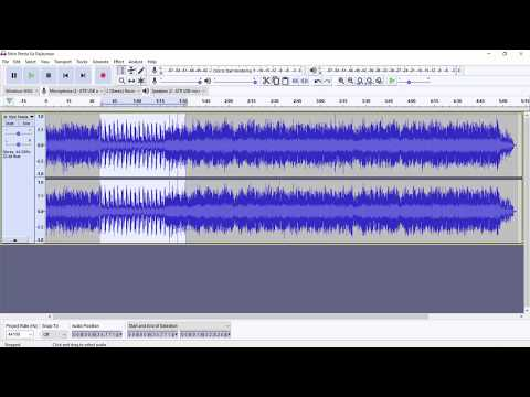 Audacity - Remove Vocal From Songs