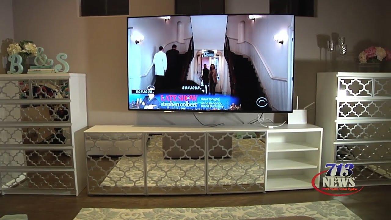 DIY Custom Design Mirrored Furniture  YouTube