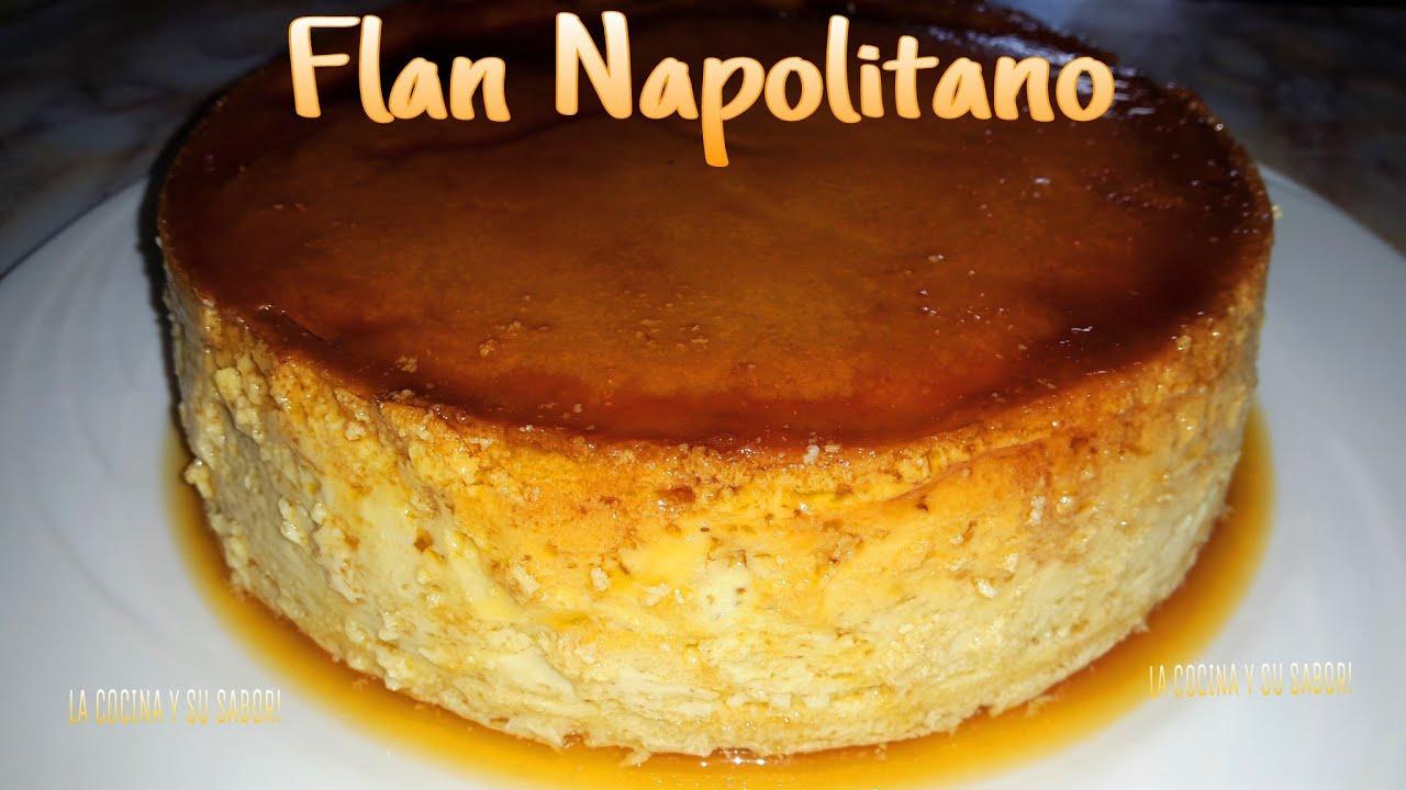 Flan napolitano sin horno delicioso y s per f cil - Flan de huevo sin horno ni bano maria ...