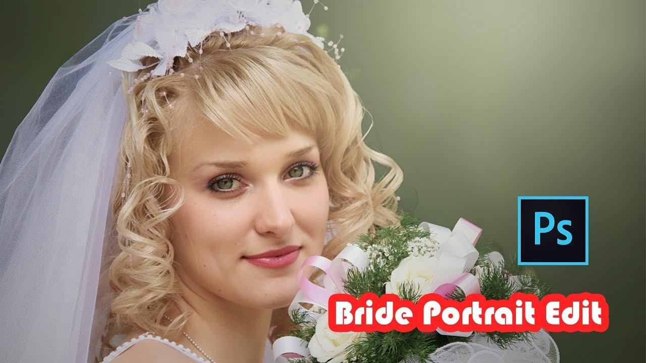 Outdoor Portrait Edit Bride Photoshop Cc Tutorial Youtube