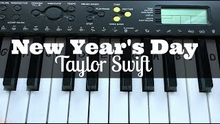 New Year's Day - Taylor Swift   Easy Keyboard Tutorial With Notes (Right Hand)