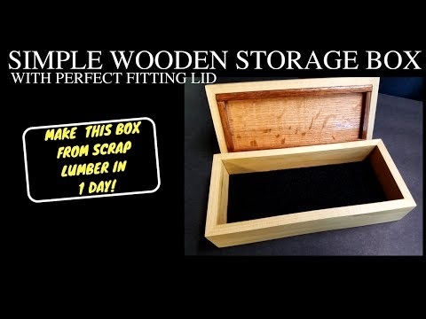 HOW TO BUILD A WOODEN BOX WITH A LID