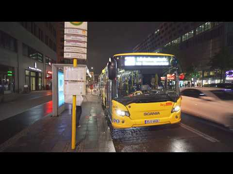 Germany, Berlin, Bus 200 Night Ride From Varian-Fry-Str. / Potsdamer Platz To S+U Alexanderplatz