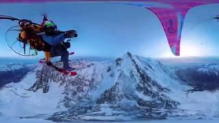 Vidéo 360° survol Mont Blanc