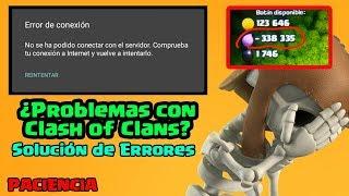Solución: Error de conexión en Clash of Clans y demás BUGS o errores extraños