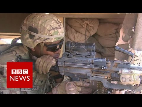 Inside US camp close to IS-held Mosul - BBC News