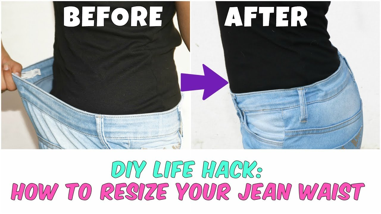 d1dfd19d698e6 DIY Life Hack| How To Resize Your Jean Waist(Elastic method)| Within 5  minutes