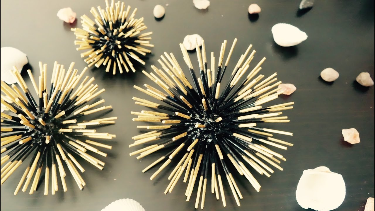 Diy toothpicks craft wall decor modem home art for Art and craft for wall decoration