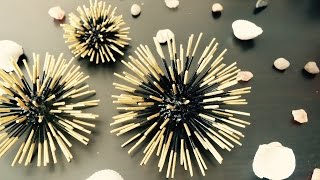 DIY - Toothpicks Craft & Wall Decor | Modem Home Art | Simple and Easy