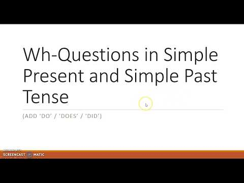 Wh Questions Simple Present And Simple Past Golectures Online Lectures