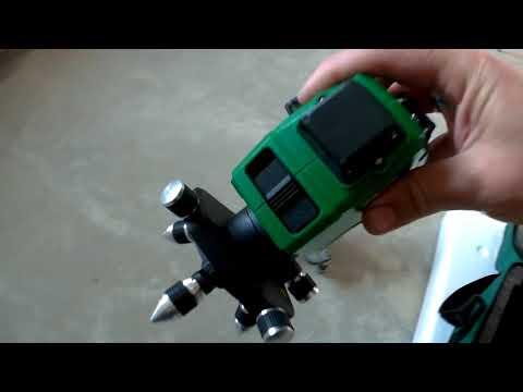 Самый дешевый 3D лазерный уровень с зеленым лазером!