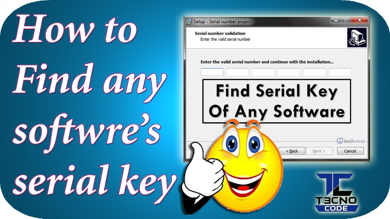How To Find Serial Keys Of Any Software