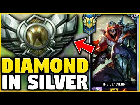 I TOOK MY ZED INTO SILVER FOR THE FIRST TIME EVER! DIAMOND ZED VS SILVER ELO!  League of Legends