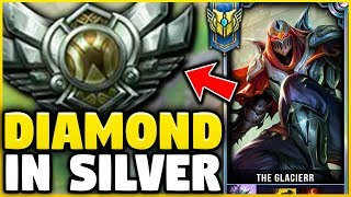 I TOOK MY ZED INTO SILVER FOR THE FIRST TIME EVER! DIAMOND ZED VS SILVER ELO! - League of Legends