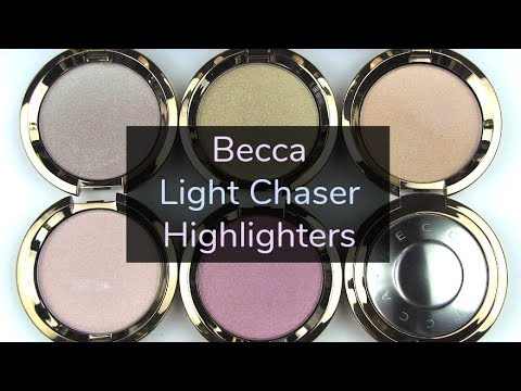 Becca Light Chaser Highlighters: Live Swatches & Review