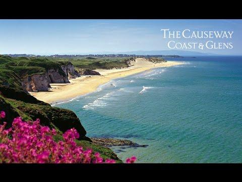 Northern Ireland tourist beach blue flag whiterocks beach at portrush county Antrim wow!!!!!!!
