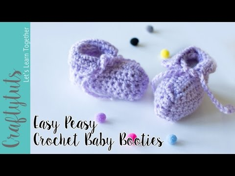 Easy Peasy Crochet Baby Booties Tutorial (with link to written ...