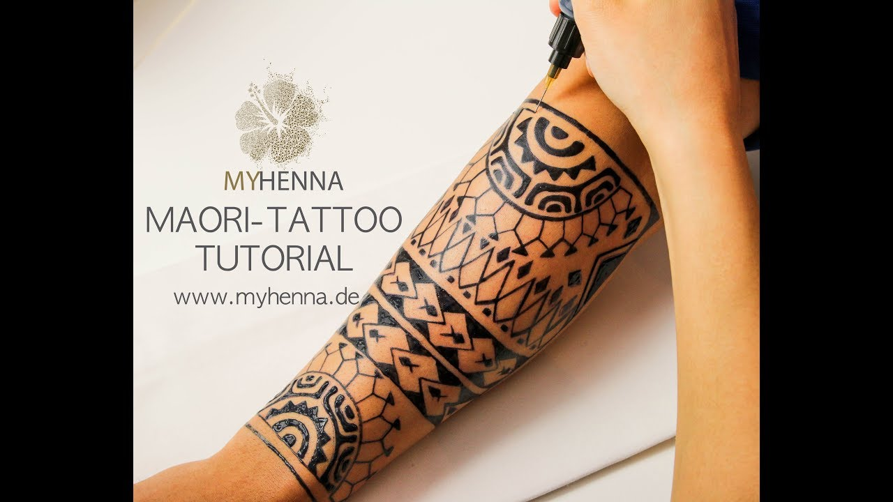4eee32820dd49 Maori Tattoo | Jagua Gel - MyHenna - YouTube