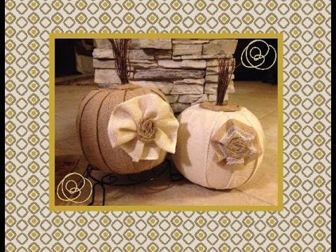 Dollar Tree DIY  Farmhouse Burlap Pumpkin | Farmhouse Diy