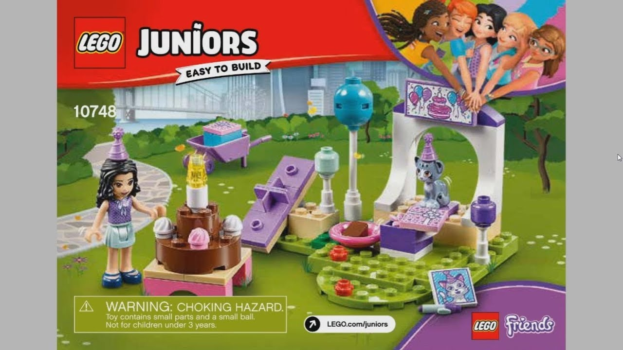 2017 Lego Juniors 10748 Emmas Pet Party Instruction Timelapse