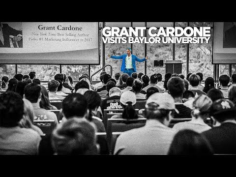 Grant Cardone Speaks at Baylor University Business Students