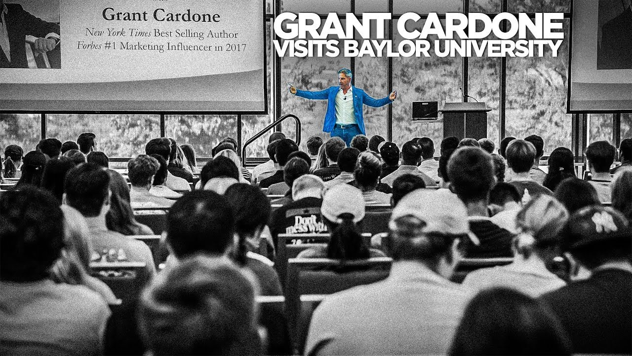 Grant Cardone Speaks at Baylor University Business Students