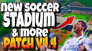 *NEW* FOOTBALL STADIUM, THERMAL SCOPED ASSAULT RIFLE & MORE | FORTNITE V4.4 PATCH NOTES