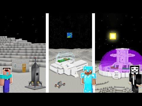 Minecraft NOOB vs PRO vs HACKER : MOON BASE CHALLENGE in minecraft / Animation thumbnail