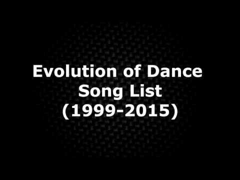 Evolution of Dance Song List (1999-2015)