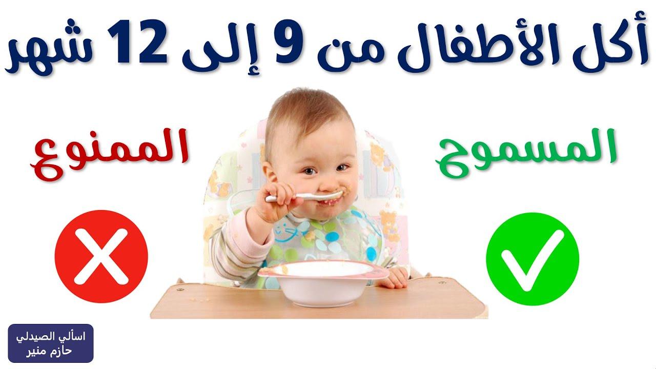 طعام الطفل من الشهر الرابع الى السادس بالامثلة Youtube