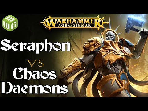 Seraphon vs Chaos Daemons Age of Sigmar Battle Report - War of the Realms Ep 218