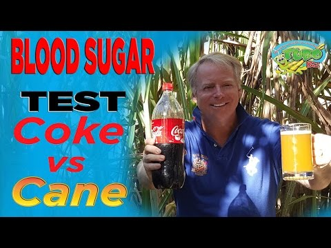 Think Cane Juice is high in Sugar? SEE THIS COKE vs CANE BLOOD SUGAR CHALLENGE