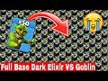 Full Base Dark Elixir VS Goblin Amazing Attack | COC private server