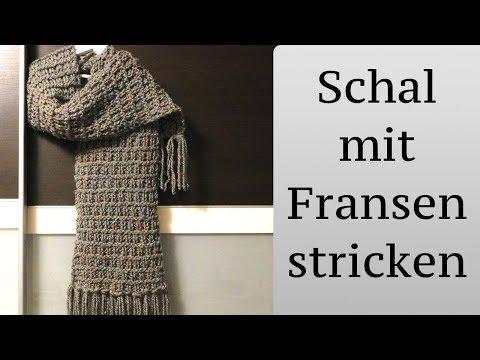 Schal stricken mit Fransen – super einfach