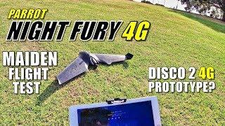 Parrot NIGHT FURY 4G LTE  Maiden Flight & Crash Test (Disco 2 Prototype!?)