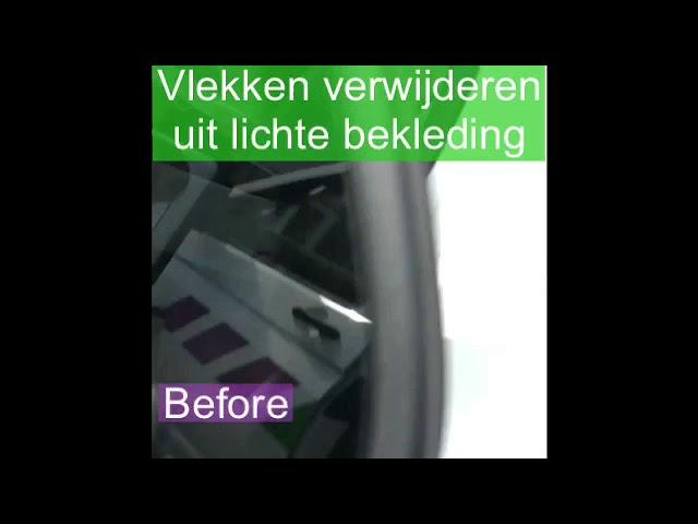 Vlekken verwijderen uit lichte auto bekleding