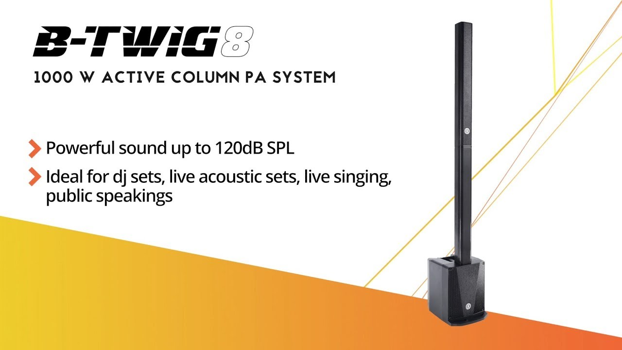 ant presents b twig 8 column pa system youtube