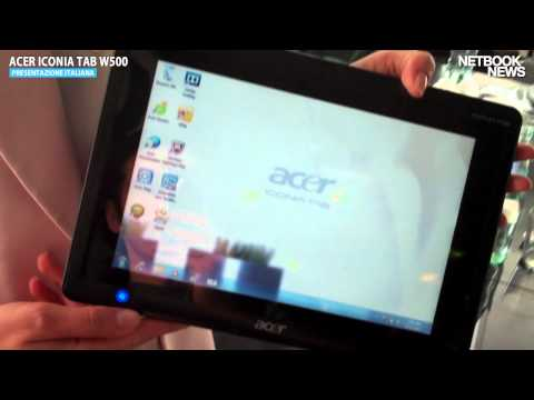 Acer Iconia Tab W500 in Italia
