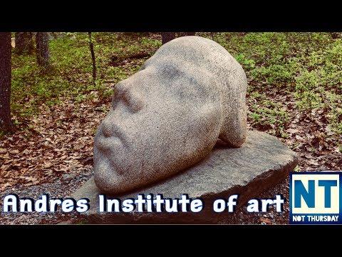 Andres institute of art Brookline NH  - Not Thursday #10 VLOG outdoor Sculpture park
