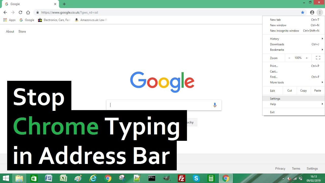 How to Stop Google Chrome Typing in the Address Bar