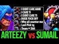 Arteezy vs SumaiL - Counterpick vs Babyrage Dota2 Trashtalk War