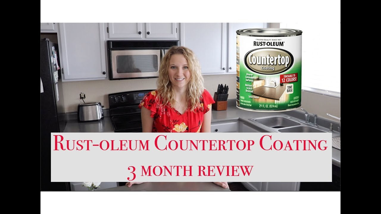 Rust Oleum Countertop Coating 3 Month Review Youtube