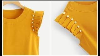 Pearl Beaded Pleated Sleeves( DIY)