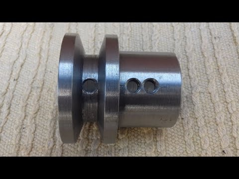 Tornitura Puleggia Motore Per Cinghia Trapezoidale [ Make A Pulley On A Lathe ]
