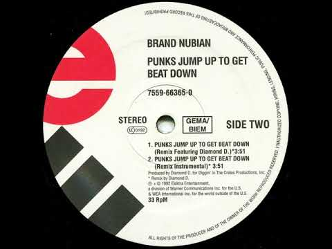 Brand Nubian Ft. Diamond D. - Punks Jump Up To Get Beat Down (Remix) (Dirty) (1992) (HD Audio)